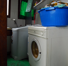 Our washer and dryer equipped laundry
