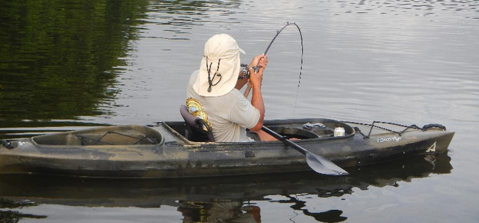 Kayak Fishing in the Amazon
