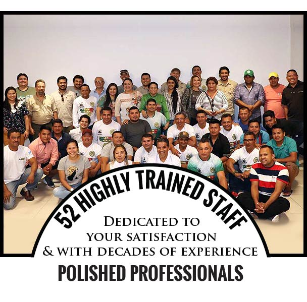 52 HIGHLY TRAINED STAFF, Dedicated to your satisfaction and with decades of experience, Polished Professionals
