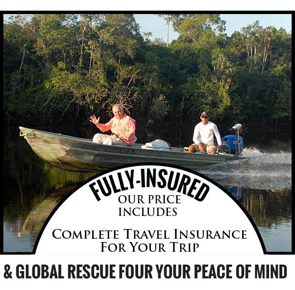 Fully-Insured - Our price includes complete travel insurance for your trip from IMG Global
